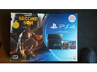 Ps4 (PlayStation 4) Black 500 GB 100% mint condition + 1 controller +3 games.