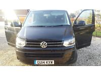 VW Transporter LWB (14) 67K- Full leather - Disabled access 2.0 TD SE 4dr 9 seaters, no VAT