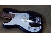 Left handed bass guitar