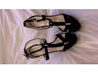 New black heeled sandles