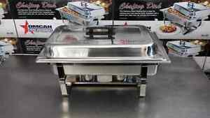 Stainless Steel Chafing Dish/Food Warmer - Rechaud a Bruleurs