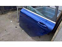 ford fiesta mk9 2014 passenger side rear door in blue