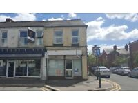 Retail shop unit to let on busy main road, Failsworth, Manchester.