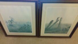 2 x J S Waide paintings