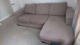 L Shaped sofa.