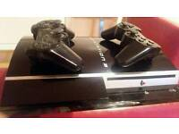 80 gb ps3 + 2 wireless controllers + 12 games