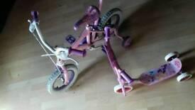 Girls bike & scooter