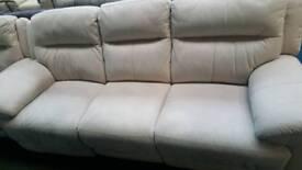 Cream fabic Fabric Ex display 3+2 seater sofa