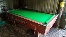 "8' by 4'6"" slate pool table"