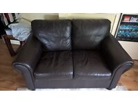 £20, 2 seat brown leather couch