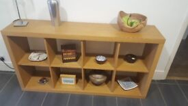 Retro habitat box shelving unit for sale in oak effect finish.