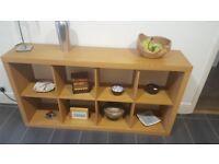 Retro habitat box shelving unit for sale in oak effect finish.
