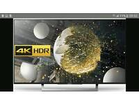 """SONY 49"""" KD49XD8305BU Smart 4K Ultra HD HDR LED TV with Freeview HD Black"""