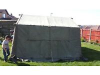 British Army 12 x 12 tent . alloy poles, with all carry bags