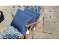 Blue outdoor Cushions