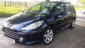 7 Seater Peugeot 307 sw 1.6 HDi Diesel Facelift Low Miles High Spec.