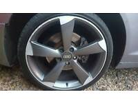 Set of wheels for audi