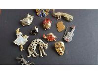 Selection of ladies brooches