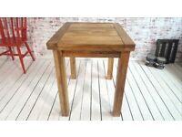 Extending Rustic Farmhouse Dining Kitchen Table 2-4 Persons Petite Square Leg