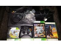 XBox 360 Console With All Cables, One Wireless Controller & Several Games