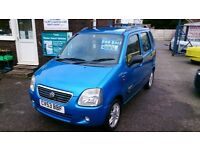 LOW MILEAGE 2003 (53) SUZUKI 1.3 WAGON R + S LIMITED BLUE ONLY 41K SERVICED NEW TIMING BELT CD E/W +