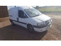 55PLATE FIAT SCUDO SX JTD 2.0 HDI SPARES OR REPAIRS JUST HAD NEW CLUTCH NO MOT £395 ono