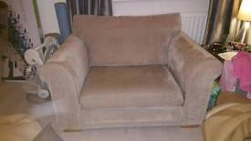 2 seater snuggle chair and 3 seater sofa