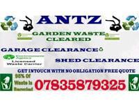 Rubbish clearances garages sheds Garden