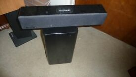 Orbitsound T12 powered stereo sound bar with i pod dock