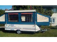 Conway cardinal clubman hardtop folding camper 6 berth