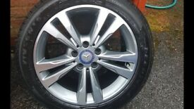 """17"""" Mercedes alloy with gd tyre!"""