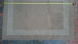 """Carpet / rug, mushroom / cream colour, 90"""" x 63"""""""
