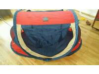 DERYAN TRAVEL COT BABY LUXE WITH SELF INFLATE MATTRESS