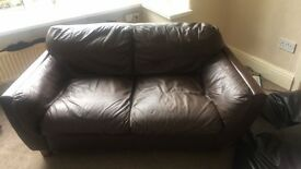 Free ❗️❗️❗️❗️❗️❗️❗️Chocolate brown sofa must collect