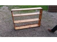 Solid pine bookcase (backless)