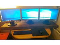 Gaming PC 3 Screens + keyboard + mouse