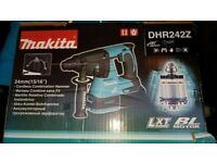 Makita DHR242Z 18V Cordless Lxt SDS Plus Brushless 3 Mode Rotary Hammer Drill 24mm (Body Only)