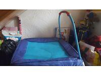 Blue junior trampoline