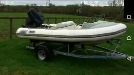 Avon 345 inflatable boat rib