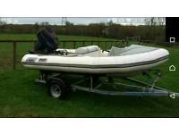 Avon 345 inflatable boat rib