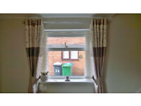 3 Pairs of Dunelm Curtains, Tie Backs and Cushions