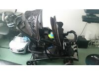 Graco double pushchair new condition