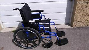 "#001  19"" wide  Invacare 9000 XDT BLUE FRAME  Folding Manual Wheelchair for ONLY $250"