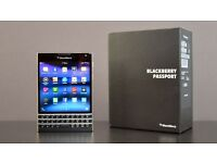 BlackBerry Passport smartphone (Good condition, black, unlocked, 32GB)