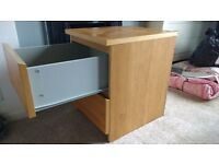 Two matching bedside drawers in good condition