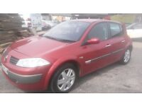 2004 renault megane dynamique with 3 month warranty