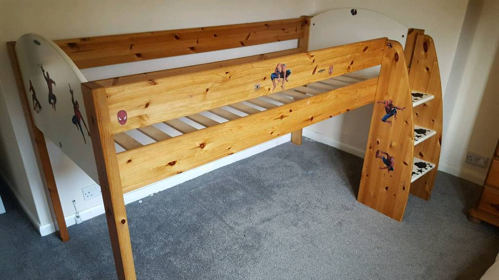Childs solid pine high sleeper kids bed STOMPER
