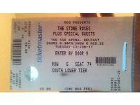 1x Ticket // STONE ROSES // SSE ARENA, BELFAST // 13-JUN-17
