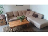 STERLING Corner Sofa and Armchair with IKEA Rug
