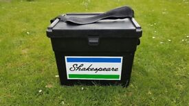 Shakespeare Fishing Box with carrying strap.